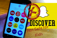 Snapchat Discover – Not Kid-Friendly!